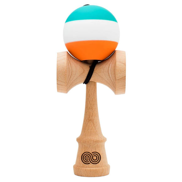 KENDAMA USA KAIZEN SLIM DOLPHIN GREEN WHITE ORANGE
