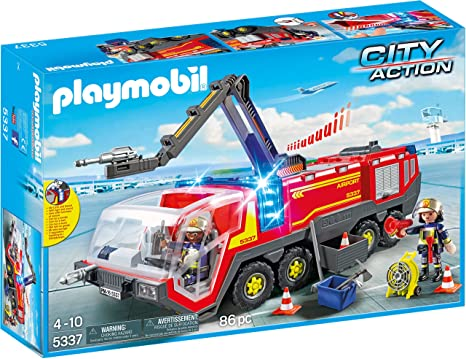 PLAYMB AIRPORT FIRE ENGINE WITH LIGHTS AND SOUNDS