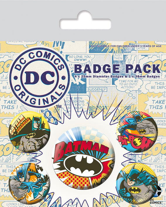 OT BADGE PACK DC BATMAN RETRO