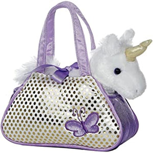 AUR PET PURSE UNICORN PURPLE BUTTERFLY BLING