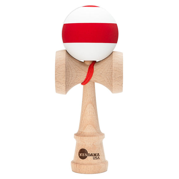 KENDAMA USA KAIZEN SILK STRIPE WHITE WITH RED