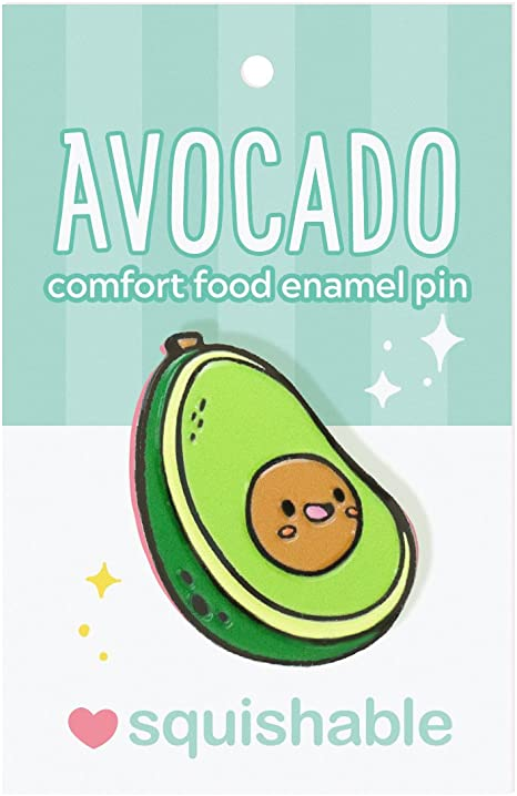 SQUISHABLE ENAMEL PIN AVOCADO