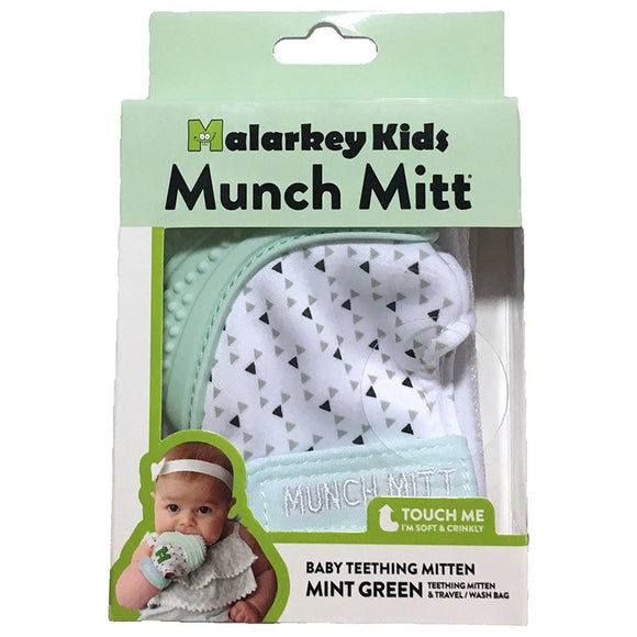 MK MUNCH MITT MINT GREEN TRIANGLES