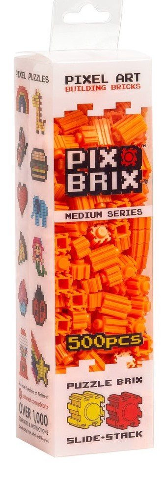 PIX BRIX 500PC MEDIUM ORANGE
