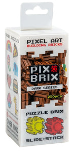 PIX BRIX 250PC DARK BROWN