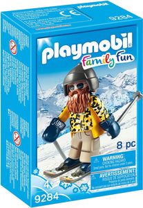 PLAYMB WINTER SPORTS SKIER WITH POLES