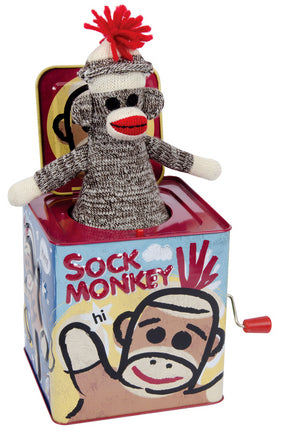 JACK IN THE BOX SOCK MONKEY
