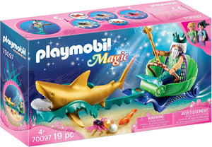 PLAYMB MERMAID KING OF THE SEA SHARK CARRIAGE