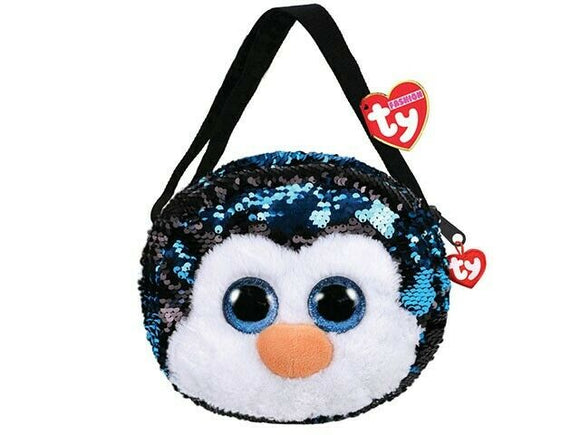 TY GEAR SEQUIN PURSE WADDLES PENGUIN