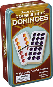 DOMINO TIN  DOUBLE 9 COLOR