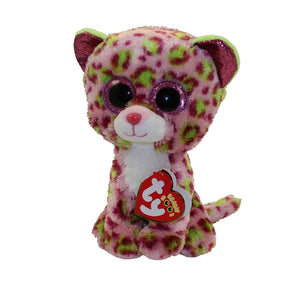 TY BEANIE BOO LAINEY LEOPARD PINK