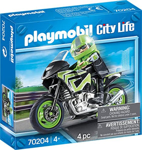 PLAYMB MOTORCYCLE WITH RIDER