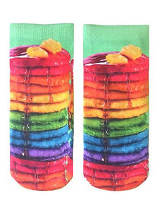 LR ANKLE SOCKS RAINBOW PANCAKES
