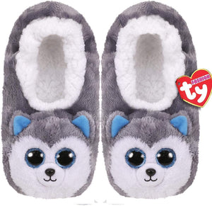 TY SLIPPER SOCKS LG 4-6 SLUSH HUSKY