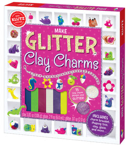 KLUTZ GLITTER CLAY CHARMS