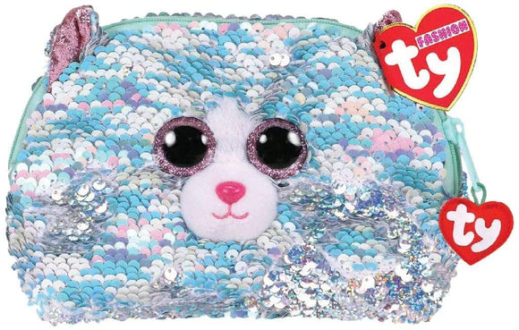 TY GEAR SEQUIN CLUTCH WHIMSY CAT