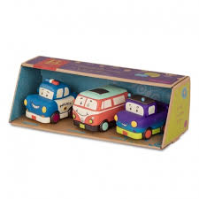B. MINI WHEEEE-LS 3PK SET 2 LIVELY MINI VEHICLES