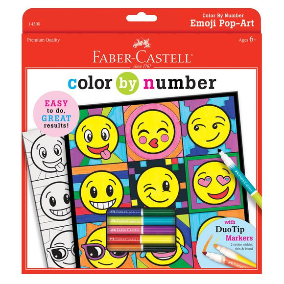FABERC COLOUR BY NUMBER EMOJI POP