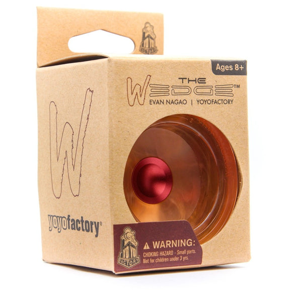 YOYO FACTORY UR WEDGE MARBLE FIRE RED HUB