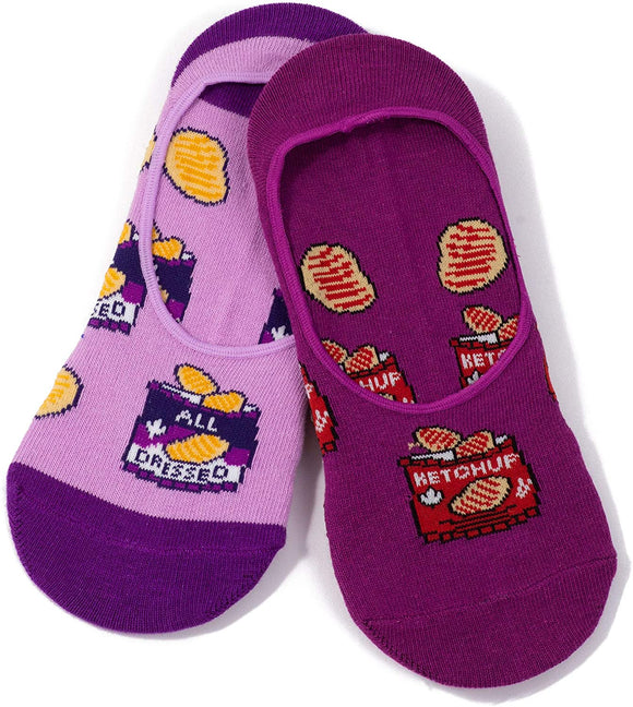 ML SOCKS WOMENS CANADIAN KETCHUP & ALL DRESSED CHIPS