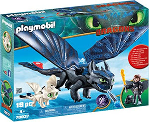 PLAYMB HTTYD 3 HICCUP & TOOTHLESS PLAYSET