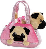 AUR PET PURSE PEEK-A-BOO PUG PINK