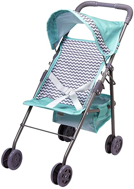 ADORA STROLLER ZIG ZAG MEDIUM UMBRELLA WITH SHADE BLUE
