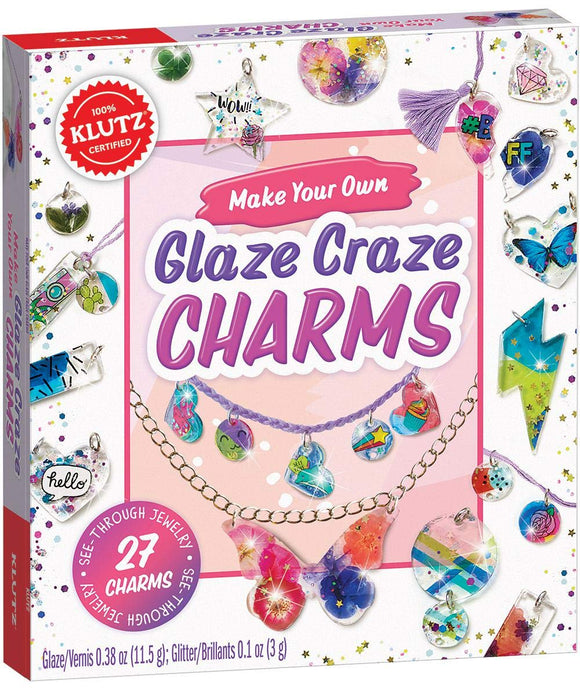 KLUTZ MAKE YOUR OWN GLITZ AND GLAZE CHARMS