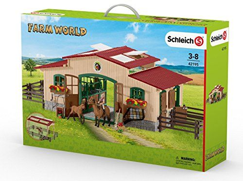 SCHLEICH FARM WORLD STABLE W ACCESSORIES