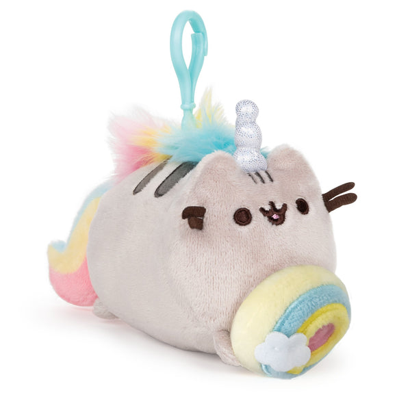 GUND PUSHEEN BACKPACK CLIP RAINBOW DONUT PUSHEENICORN 4.5