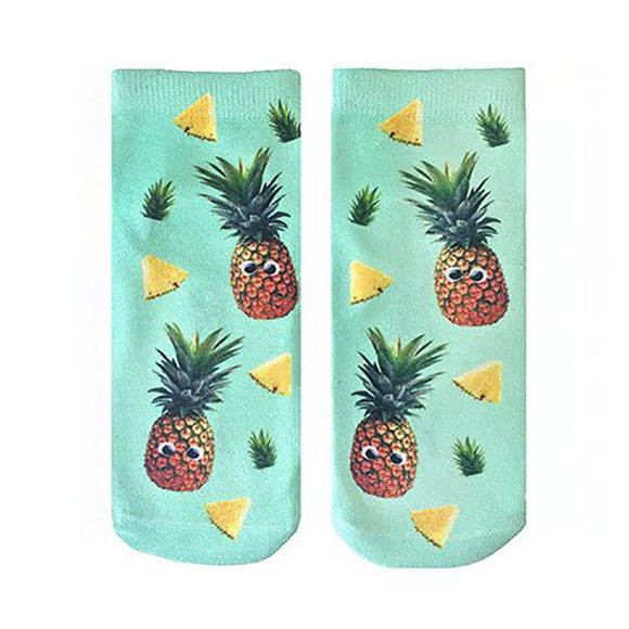 LR ANKLE SOCKS GOOGLY PINEAPPLES