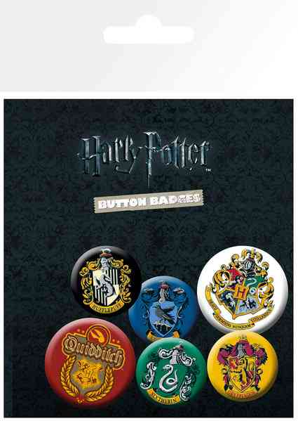 OT BADGE PACK HP HARRY POTTER HOUSE CRESTS