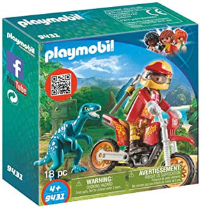 PLAYMB EXPLORERS MOTOCROSS BIKE WITH RAPTOR
