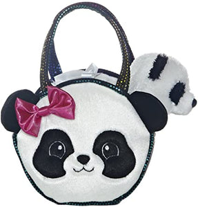 AUR PET PURSE PANDA PINK BOW