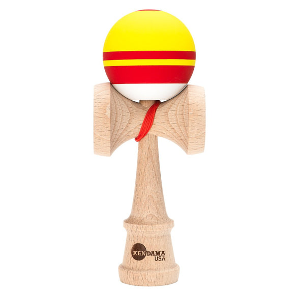 KENDAMA USA KAIZEN SHIFT SILK RCA RED YELLOW WHITE