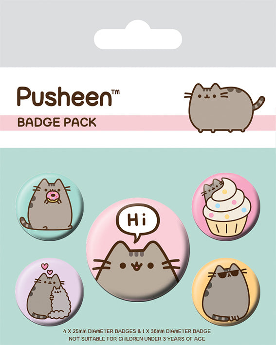 OT BADGE PACK PUSHEEN