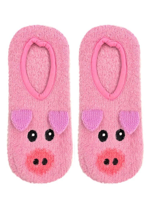 LR FUZZY SLIPPERS PIG