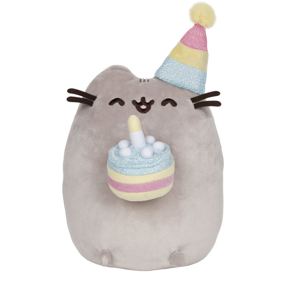 GUND PUSHEEN WITH HAT BIRTHDAY 9.5