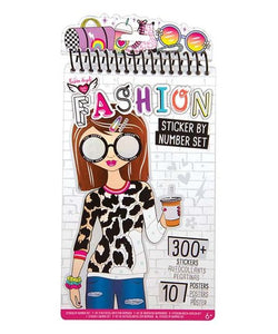 FA STICKER BY NUMBER FASHION