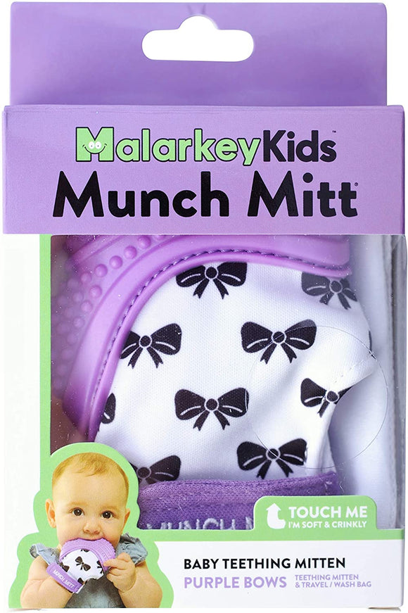 MK MUNCH MITT PURPLE BOWS