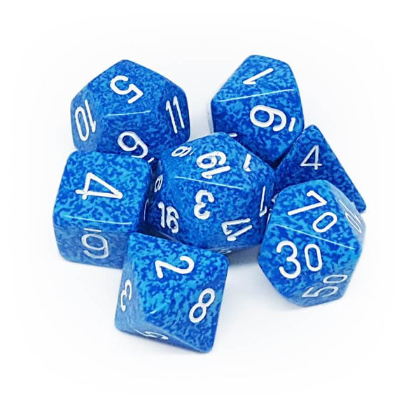 CHESSEX DICE 7PC SPECKLED WATER
