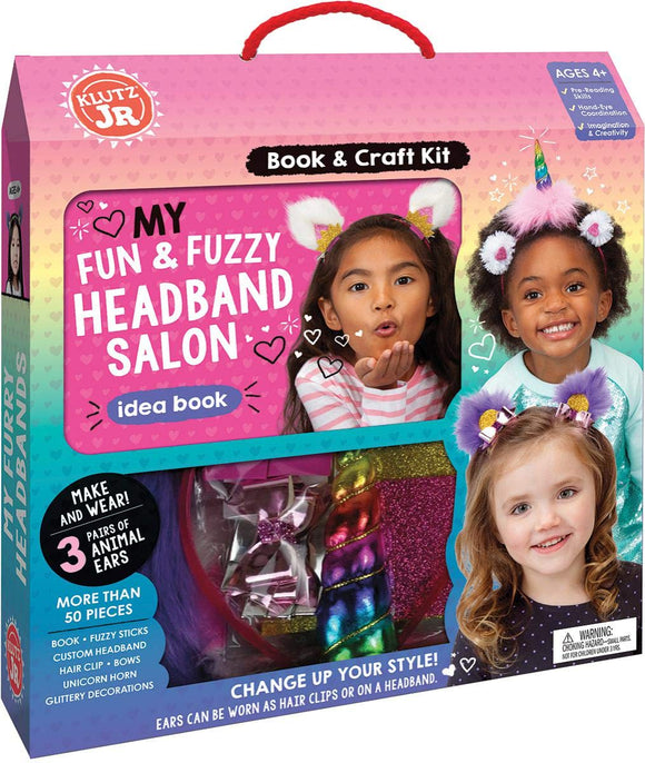 KLUTZ JR CUTE FUZZY HEADBANDS