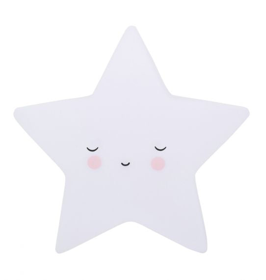 LITTLE LOVELY LIGHT MINI SLEEPING STAR WHITE