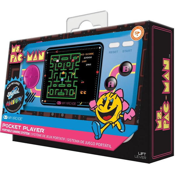 MY ARCADE POCKET PLAYER MS PACMAN HITS HANDHELD