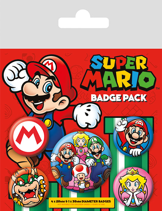 OT BADGE PACK SUPER MARIO