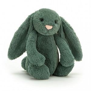 JC BASHFUL BUNNY FOREST GREEN MEDIUM 12""