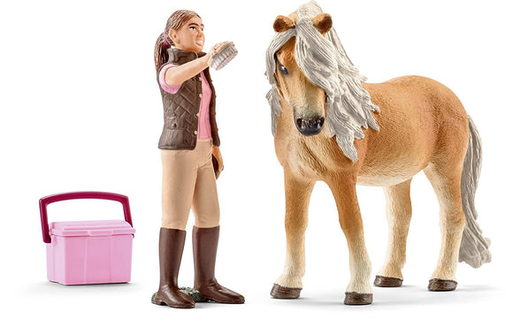 SCHLEICH GROOM WITH ICELANDIC PONY MARE