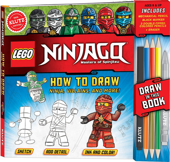 KLUTZ LEGO NINJAGO HOW TO DRAW
