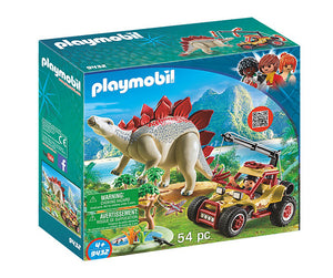 PLAYMB EXPLORERS VEHICLE WITH STEGOSAURUS