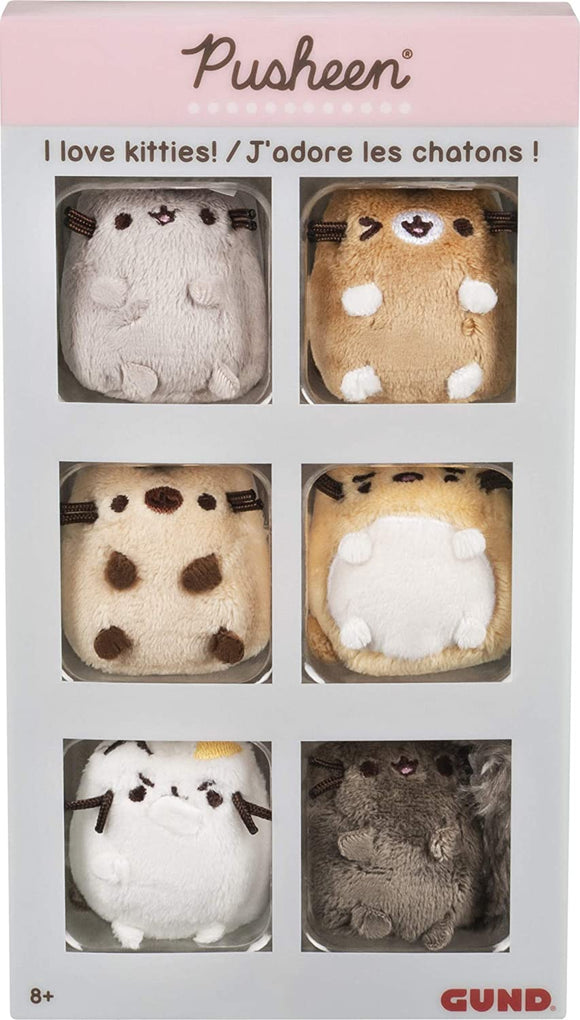 GUND PUSHEEN 6 PACK COLLECTORS SET I LOVE KITTIES